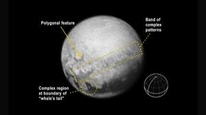Signos geológicos en Plutón. Imagen de NASA vía Space.com