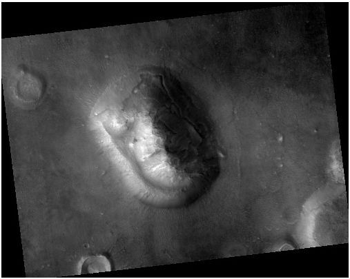 Imagen tomada por HiRISE en 2007, de resolución mucho mayor. Vía NASA/JPL.