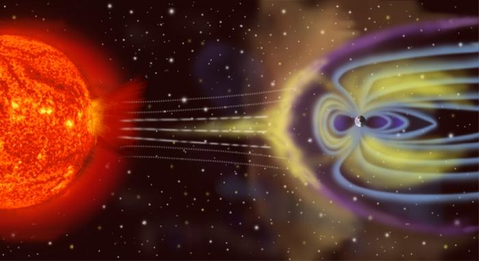 Ilustración de la magnetósfera de la Tierra. Vía NASA.